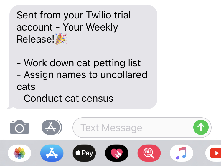 Automating My Todo with GitHub and Twilio – Alice Goldfuss